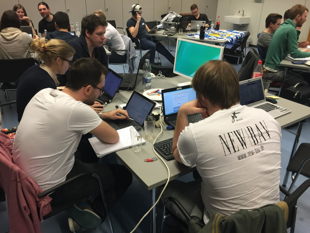 Teilnehmer bei ersten DataFest Germany